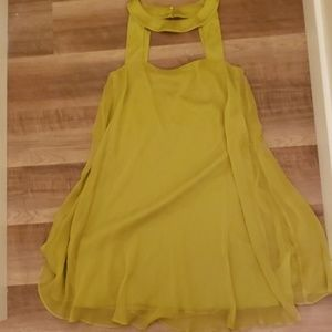 Elie Tahari Baby Doll Sheer Dress